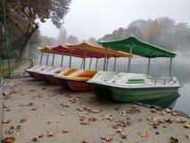 Mañana del otoño en Tashkent Parque de Gafur Guliam fotografía de archivo libre de regalías