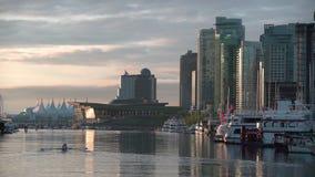 Mañana del puerto del carbón, Vancouver 4k UHD almacen de metraje de vídeo