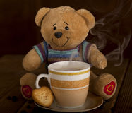 Mañana dulce del café foto de archivo
