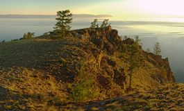 Mañana en Baikal Fotos de archivo