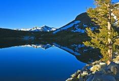 Mañana en el lago Tioga Fotos de archivo