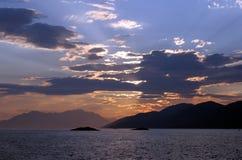 Mañana en el mar Imágenes de archivo libres de regalías