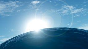 Mañana en el mar Foto de archivo libre de regalías