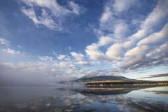 Mañana en el monte Fuji en Japón Fotos de archivo