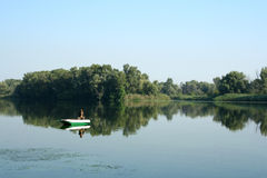 Mañana en el río Imagen de archivo libre de regalías