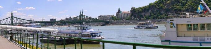 Mañana en el río Danubio en Budapest Hungría Imagenes de archivo