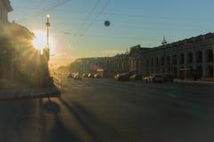 Mañana en la ciudad Fotos de archivo libres de regalías