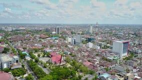 Mañana en la ciudad de Pekanbaru, Riau imagen de archivo