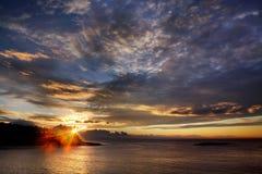 Mañana en la costa Fotografía de archivo libre de regalías