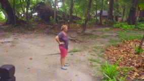 Mañana en la isla de Similan almacen de video