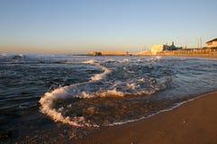 Mañana en la playa imagen de archivo libre de regalías