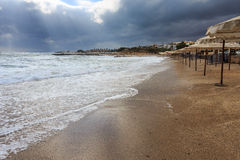 Mañana en la playa II del hotel Imagen de archivo