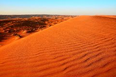Mañana en las arenas de Wahiba en Omán Fotografía de archivo