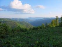 Mañana en las montañas Fotografía de archivo libre de regalías