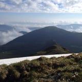 Mañana en las montañas Imagen de archivo