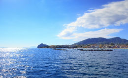 Mañana en los isquiones Ponte, isla de los isquiones - Italia Fotos de archivo