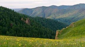 Mañana en montañas Imágenes de archivo libres de regalías