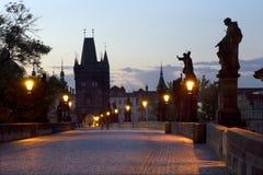 Mañana en Praga Foto de archivo libre de regalías