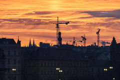 Mañana en Praga Fotos de archivo