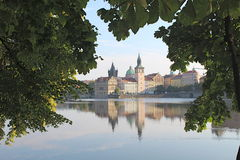 Mañana en Praga Imágenes de archivo libres de regalías