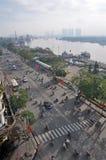 Mañana en Ton Duc Thang Street Ho Chi Minh City Fotos de archivo libres de regalías