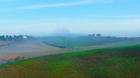 Mañana en Toscana, Italia Fotografía de archivo libre de regalías