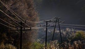 Mañana escarchada del otoño cerca del ferrocarril Imagen de archivo