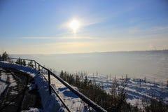 Mañana fría del invierno foto de archivo libre de regalías