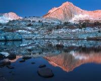 Mañana frígida en el pico del norte Fotografía de archivo