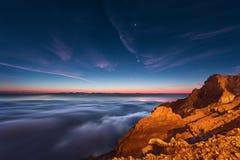Mañana hermosa desde arriba de las nubes Imagen de archivo