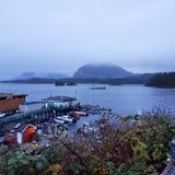 Mañana lluviosa de la ciudad de la toba volcánica Fotografía de archivo libre de regalías