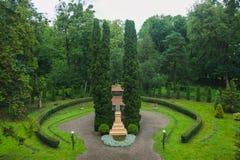 Mañana lluviosa en el parque Imagenes de archivo