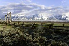 Mañana magnífica de Teton Fotos de archivo libres de regalías