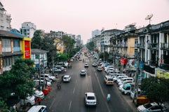 Mañana nebulosa en Rangún Imagen de archivo libre de regalías