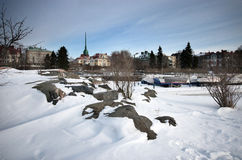 Mañana Nevado Fotos de archivo libres de regalías