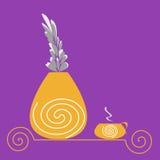 Mañana púrpura Imagen de archivo libre de regalías