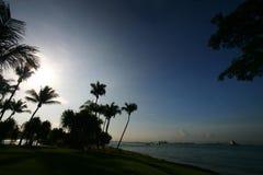 Mañana, playa tropical Imagenes de archivo