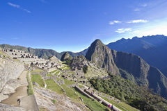 Mañana que sube sobre Machu Picchu Imagen de archivo