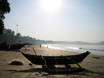 Mañana temprana de la playa Imagen de archivo