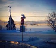 Mañana temprana del invierno Foto de archivo