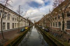 Mañana temprana del otoño en cerámica de Delft Fotos de archivo