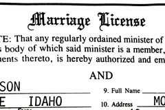 Małżeństwa świadectwa certyfikata papierkowa robota dla zaślubin Obraz Stock