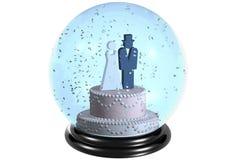 małżeństwa snowdome Zdjęcie Royalty Free