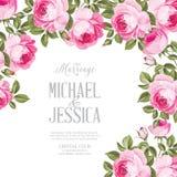 Małżeństwa zaproszenia karta Obraz Royalty Free