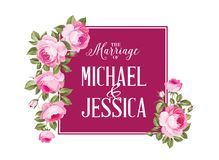 Małżeństwa zaproszenia karta Zdjęcia Stock