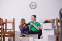 Małżeństwo i herbaciana przerwa Fotografia Stock