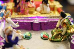 Małżeństwo lale pokazuje Hinduskich rytuały obraz royalty free