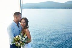 Małżeństwo na jachcie Zdjęcie Royalty Free