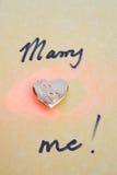 małżeństwo poślubia ja propozycja Zdjęcie Stock