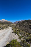 Mała ścieżka w Andes Parkowy Sajama, Boliwia Zdjęcia Stock